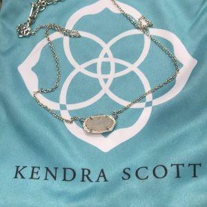 Kendra Scott Elisa Drusy gold necklace